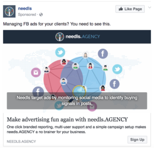 facebook ad example sign up