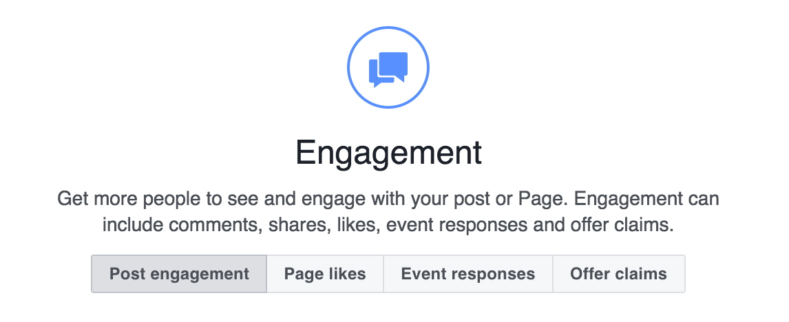 facebook ad example engagement