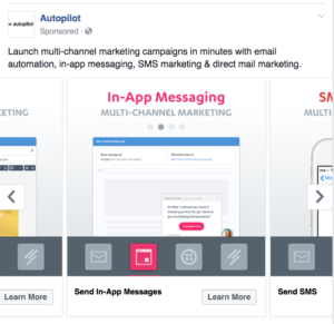 facebook ad example product carousel