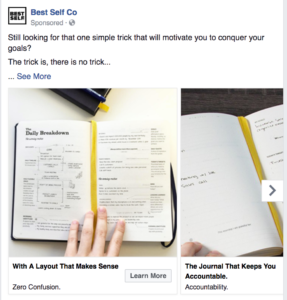 facebook ad example product catalogue
