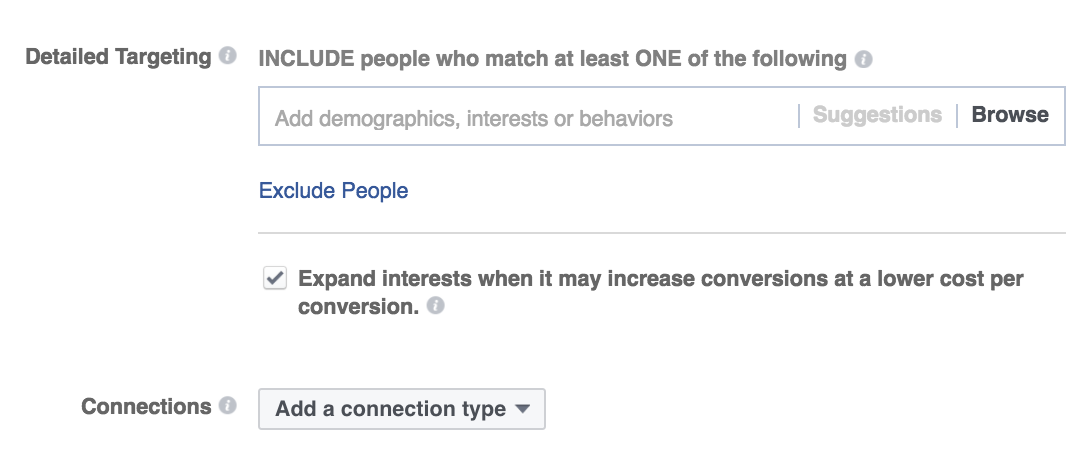 facebook ad targeting more options
