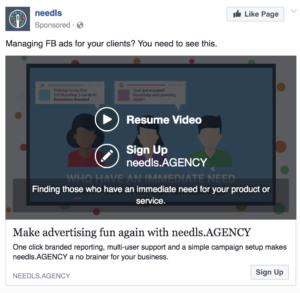 facebook advertising video