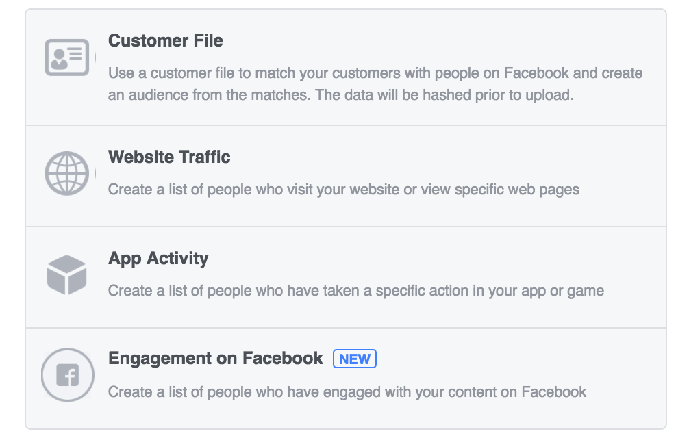 facebook targeting - custom audience