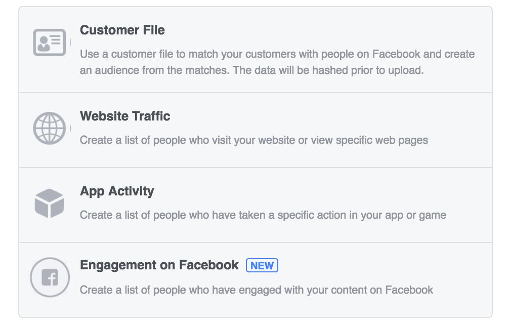 facebook targeting - custom audience