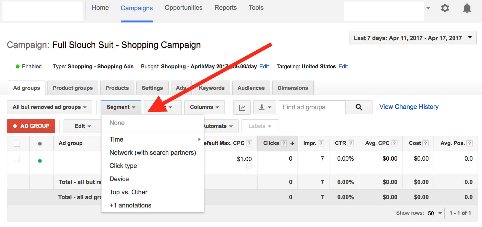 adwords segments